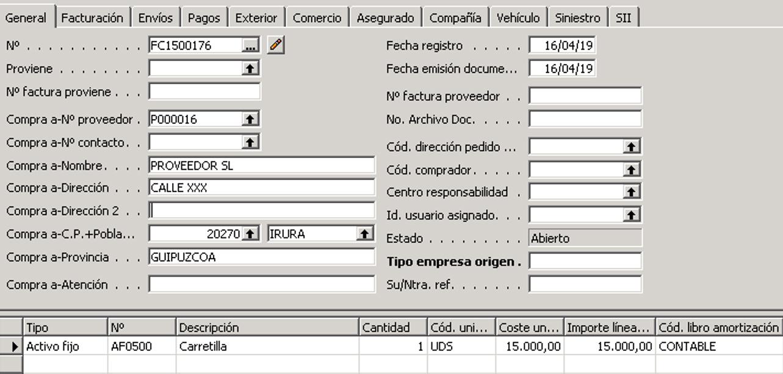 Registrar factura en contabilidad